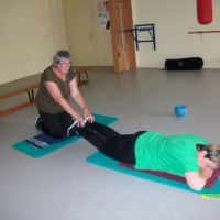 Bild Rückenübung am Boden
